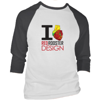 Red Rooster Design T-shirt Design