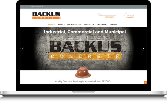 Backus Concrete Website