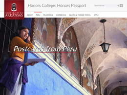 University of Arkansas Honors College Postcards from Peru